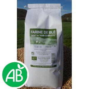 Farine de blé Bise (T80) – 1kg